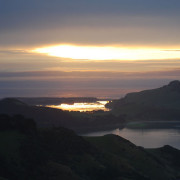 Sunrising in the Otago Peninsula