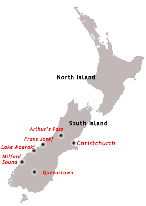 West Coast Tour Map