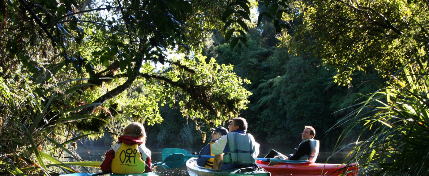 Kayaking through Milford Sounds