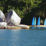 Wind riders, Split Apple Rock, Abel Tasman National Park