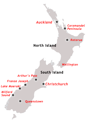 North South Map